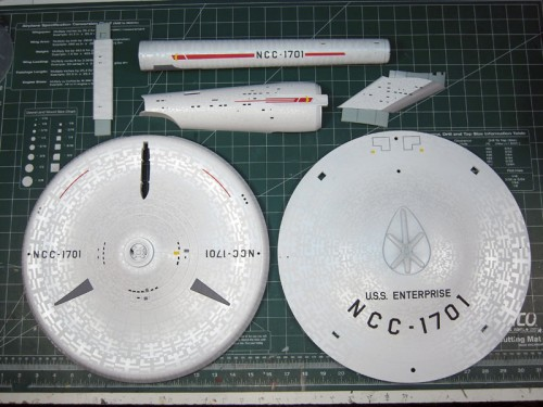 1/350 Enterprise TOS - Complete Aztec & Markings Paint Mask Set